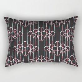 Chandeliers Black Rectangular Pillow
