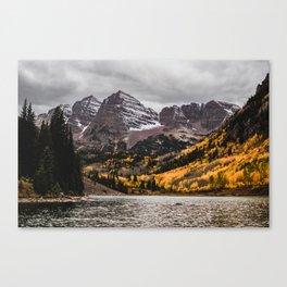 Maroon Bells, Aspen, Colorado Canvas Print