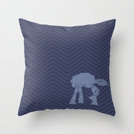 Chevrons AT in Navy Throw Pillow