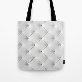 White Tufted Tote Bag