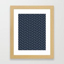 Stylized Japanese Mountains Hand Drawn Framed Art Print