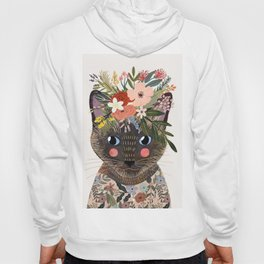 Siamese Cat with Flowers Hoody