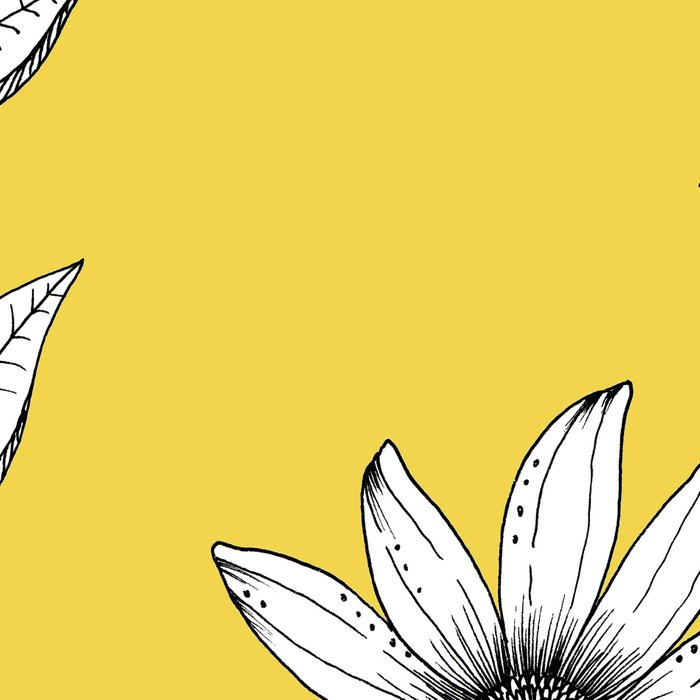Wildflower line drawing   Botanical Art Leggings