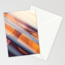 Evening Sunset Abstract City Lights Bokeh Stationery Cards