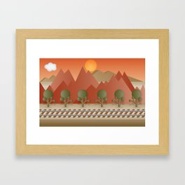 Mountain Railway Framed Art Print