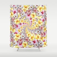 bali Shower Curtains featuring bali twist by gasponce