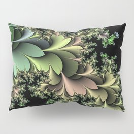 Kale Leaves Fractal Pillow Sham
