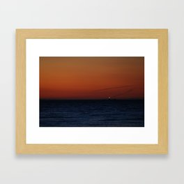 Lonely lighthouse at Dungeness Spit, WA Framed Art Print
