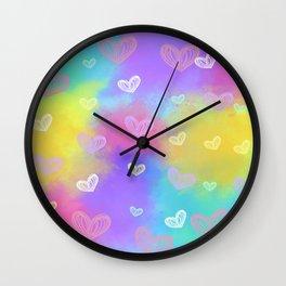 Colorful Heart Drawings Ver.6 Wall Clock