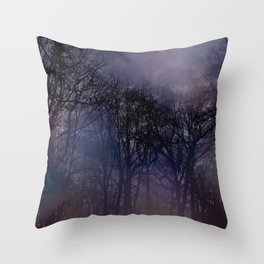 Nightfall in the Woods Throw Pillow