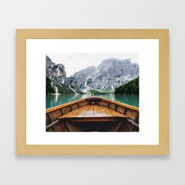 Wanderlust: Taking the Sustainable Route Framed Art Print