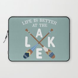 Life Is Better At The LAKE Painted Paddles Laptop Sleeve