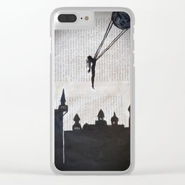 Carried away from troubles Clear iPhone Case