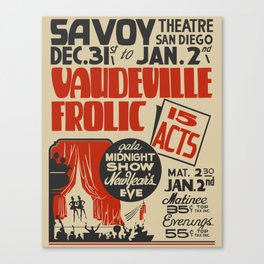 Vaudeville Frolic Canvas Print
