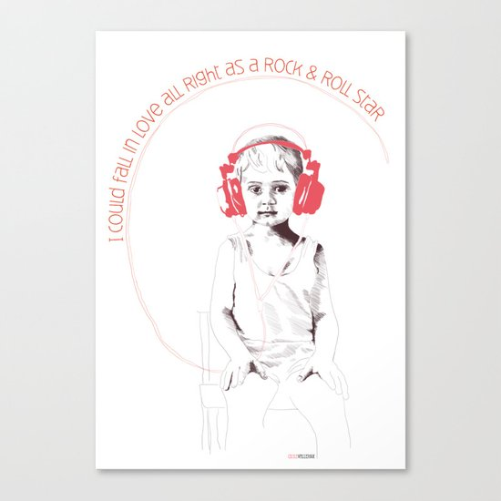 RocknRoll Boy Canvas Print