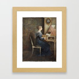 An Old Song, William John Hennessy Framed Art Print