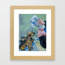 Potty Time Framed Art Print