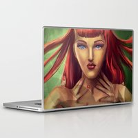 poison ivy Laptop & iPad Skins featuring Poison Ivy by Valérie Loetscher (Vay)
