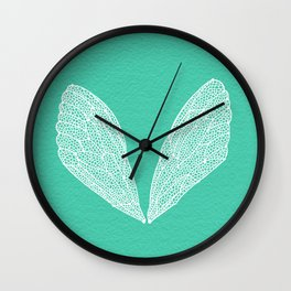 Cicada Wings – Turquoise Wall Clock