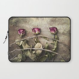 Three dried roses and barbed wire Laptop Sleeve