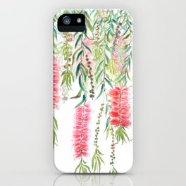 bottle brush tree flower iPhone Case