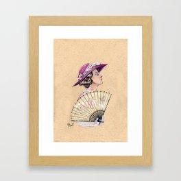 Lady Mary Cameo Framed Art Print