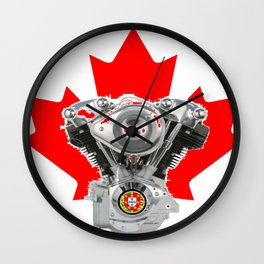 Canadian Portuguese Motorcycle Culture Wall Clock