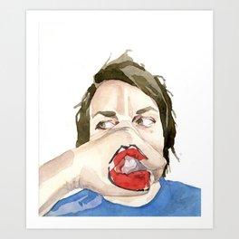 New Mouth Art Print