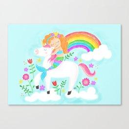 Unicorns, Mermaids & Rainbows...Oh My! Canvas Print