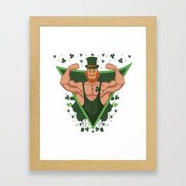 St Patricks Day Strong Irish Men Bodybuilder Gift Framed Art Print
