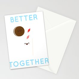 Cookies and Milk - Better Together Art Stationery Cards