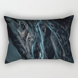 Abstract River in Iceland - Landscape Photography Rectangular Pillow