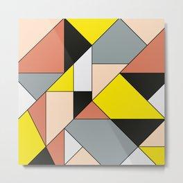 Geometric Art Design Metal Print