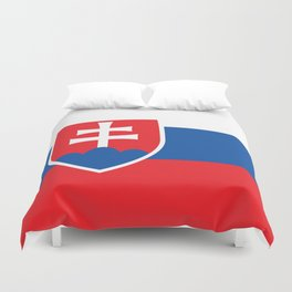 Flag of Slovakia, High Quality Image Duvet Cover