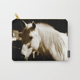 White Horse-Sepia Carry-All Pouch