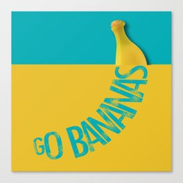 GO BANANAS Canvas Print