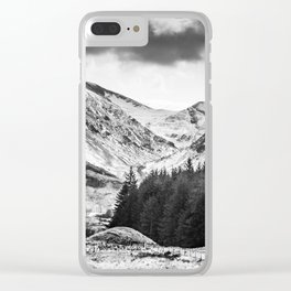 Lonely Mountain Road Clear iPhone Case