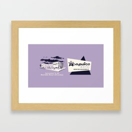 ACAPULCO MOTEL Framed Art Print