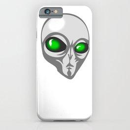 Happy Halloween Alien UFO iPhone Case