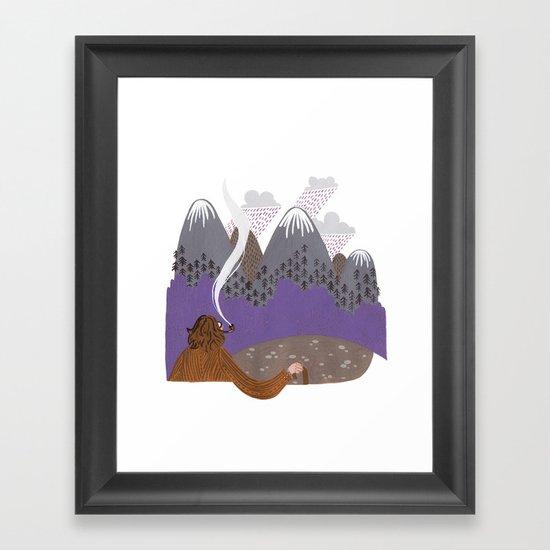 The steep slopes Framed Art Print