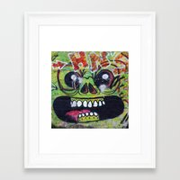 gnome Framed Art Prints featuring GNOME by lucborell
