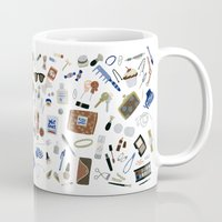 wallet Mugs featuring Girly Objects by Yuliya