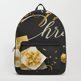 Photo New year English Snowflakes text present Gra Backpack