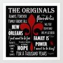 The Originals inspired art print (Black) by kiwikaptures