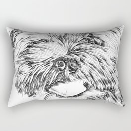 Gnocchi the Shorkie Black and White Art Rectangular Pillow