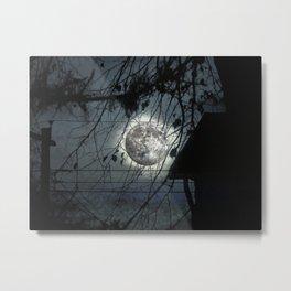 Spooky Moon Glow Silhouettes. Metal Print