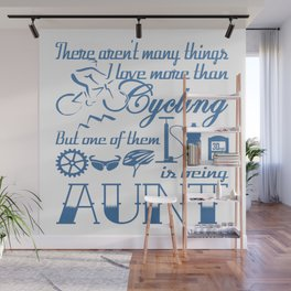 Cycling Aunt Wall Mural