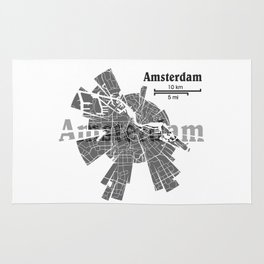 Amsterdam Map Rug