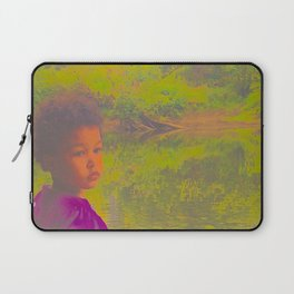 She Listens At Golden River And Feels An Overseeing Power Laptop Sleeve