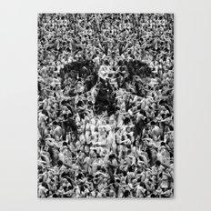 Naked Skull Canvas Print